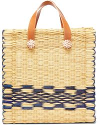 Heimat Atlantica Chacha Large Tote Basket Bag - Multicolour