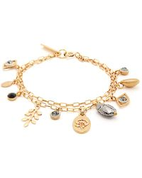 Isabel Marant Crystal-embellished Charm Bracelet - Metallic