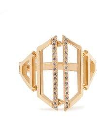 Susan Foster Diamond & 18kt Gold Ring - Metallic