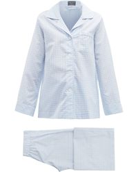 Emma Willis Zephirlino Gingham Cotton-blend Pyjamas - Blue