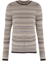 M.i.h Jeans - Moonie Striped Wool-blend Sweater - Lyst