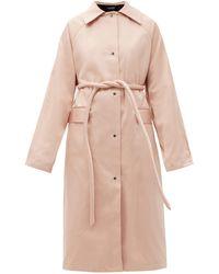 Kassl Original Belted Satin Trench Coat - Pink