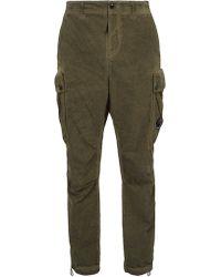 C P Company - Lens Cotton Blend Cargo Pants - Lyst