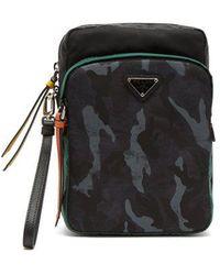 Prada - - Logo Plaque Nylon Camera Bag - Mens - Blue Multi - Lyst