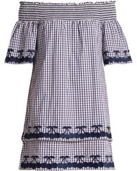 Bliss and Mischief - Off-the-shoulder Gingham Cotton Dress - Lyst