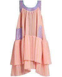 Natasha Zinko - Scoop-neck Sleeveless Textured-jacquard Dress - Lyst