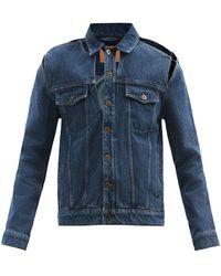 Y. Project Peep Show Organic-cotton Denim Jacket - Blue
