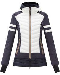 Bogner リケラ バイカラー キルティング スキージャケット - ブルー