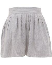 Anaak Annex Striped High-rise Shorts - Blue