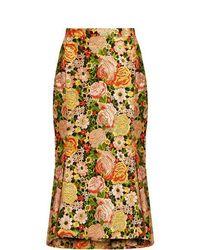 Balenciaga - Kick-hem Embroidered Silk Skirt - Lyst