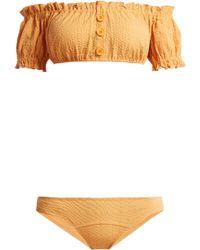 Lisa Marie Fernandez Bikini à épaules dénudées Leandra - Orange
