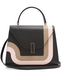 Valextra Iside Medium Grained-leather Bag - Black