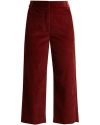 Weekend by Maxmara - Cropped Cotton Corduroy Trousers - Lyst