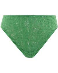 Araks Tine Floral-lace Thong - Green