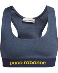 Paco Rabanne - Logo Jacquard Sports Bra - Lyst