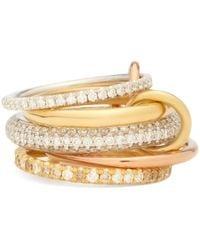 Prada Anahata Diamond, Sapphire, Opal & 18kt Gold Ring - Pink