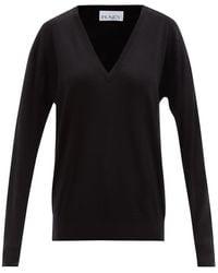 Raey Vネック メリノウールセーター - ブラック