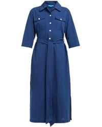 M.i.h Jeans Elsie Chambray Midi Shirtdress - Blue
