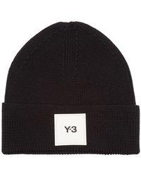 Y-3 ロゴパッチ ウールビーニー - ブラック