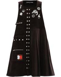 Chopova Lowena Morson Cotton-corduroy Pinafore Dress - Brown