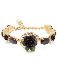 Dolce & Gabbana - Rose And Faux-pearl Bracelet - Lyst