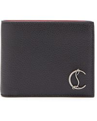 Christian Louboutin Coolcard Monogram Plaque Leather Bi Fold Wallet - Black