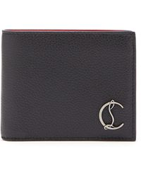 Christian Louboutin Coolcard Monogram-plaque Leather Bi-fold Wallet - Black