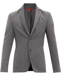 Barena ボルゴ ウールツイル シングルジャケット - グレー
