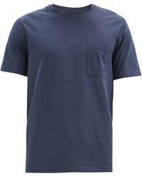 Vilebrequin リブクルーネック コットンtシャツ - ブルー
