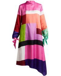 Mary Katrantzou - Colour Block Dress - Lyst