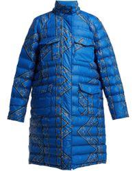 Ganni Foxworth Printed Down Jacket - Blue