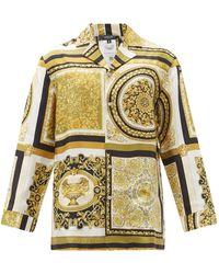 Versace バロック シルクサテン パジャマシャツ - マルチカラー