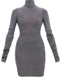 Dolce & Gabbana ハイネック スパンコール ミニドレス - メタリック