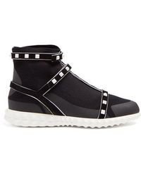 Valentino - Free Rockstud Bodytech High-top Trainers - Lyst