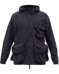 Snow Peak C/n コットンブレンド パーカージャケット - ブルー