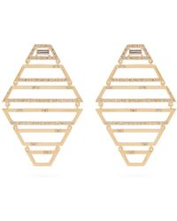 Susan Foster - Diamond & Yellow-gold Earrings - Lyst