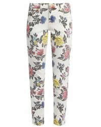 House of Holland - Floral-print High-rise Skinny Jeans - Lyst