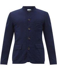 Oliver Spencer コラム コットン シングルジャケット - ブルー