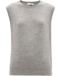The Row Balham Cashmere Sleeveless Jumper - Grey