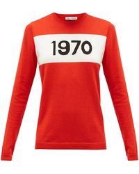 Bella Freud 1970 インターシャセーター - レッド