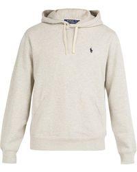 Polo Ralph Lauren - Fleece-back Cotton-jersey Hooded Sweatshirt - Lyst