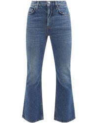 Totême High-rise Cropped Flared-leg Jeans - Blue