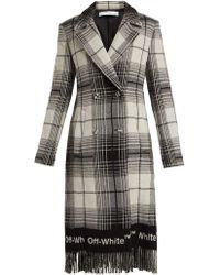 Off-White c/o Virgil Abloh - Check Wool-blend Blanket Coat - Lyst