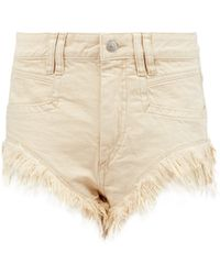 Isabel Marant Eneida Frayed-hem Denim Shorts - White
