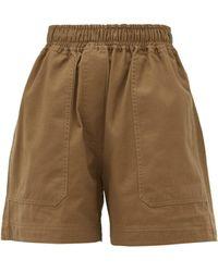 Lee Mathews Workroom Patch-pocket Organic-cotton Shorts - Natural