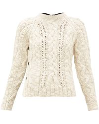 La Fetiche Marilyn Cable-knit Wool Sweater - Natural
