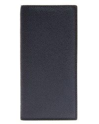 Valextra - Vertical Bi-fold Grained-leather Wallet - Lyst