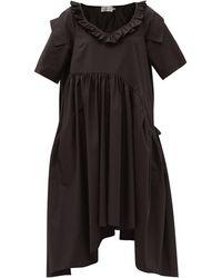 Preen By Thornton Bregazzi タカ オーガニックコットンブレンドポプリン ドレス - ブラック
