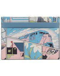 Prada - All Designer Products - Comic-print Card Holder - Lyst
