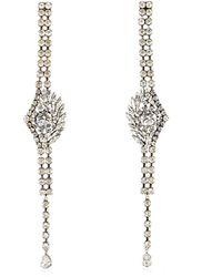 Sonia Rykiel - Oversized Crystal Embellished Earrings - Lyst